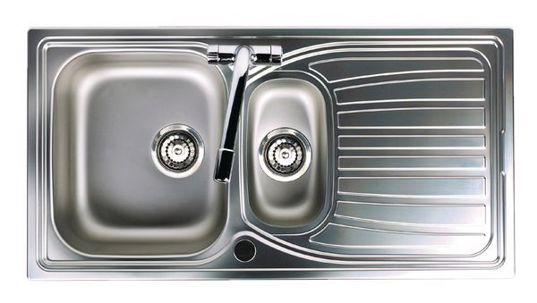 Astracast Alto 1.5 Bowl Sleeved Sink Only Stainless 980 X 510 Steel/Satin