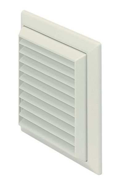 Domus F6904w 150Mm Louvre C/W Fly White