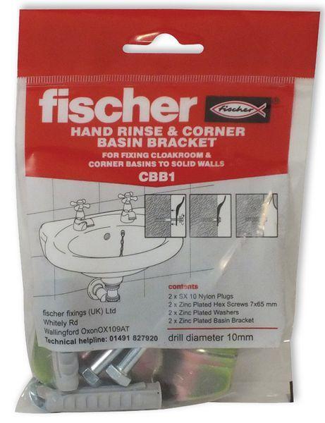 Fischer CBB1 corner basin fixing set