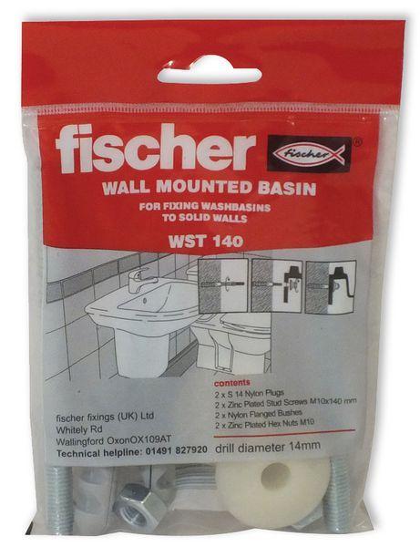 Fischer WST140 wash basin fixing set