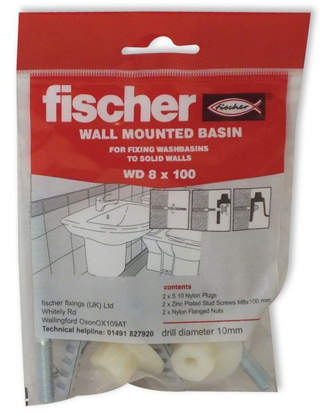 Fischer Fishcer WD wall mount basin fixing set 8X100