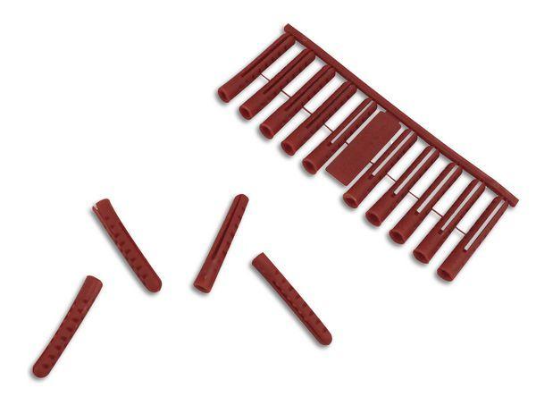 Owlett PREMIUM PLASTIC PLUGS 6MM - RED (100)