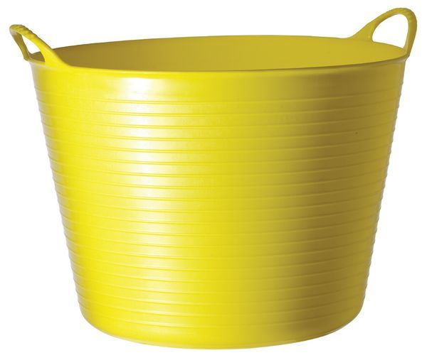 LARGE 40 LITRE YELLOW FLEXI TUB
