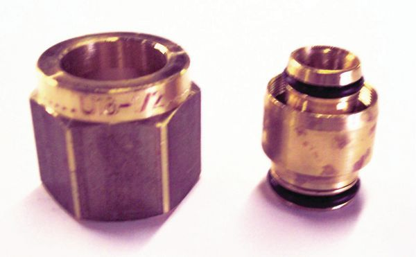 Uponor MLCP compression adaptor brass 16x15mm