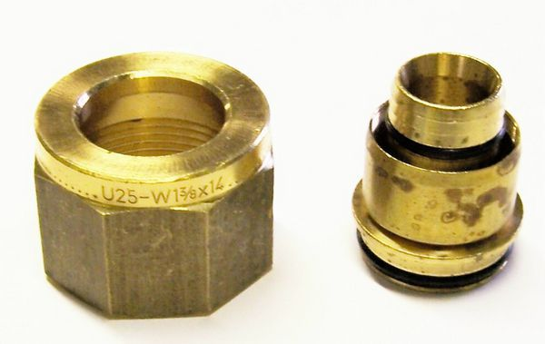 Uponor MLCP compression adaptor brass 25x28mm