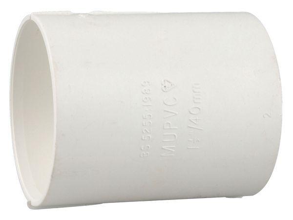 Wavin 4M104W WHITE OSMA 32MM DOUBLE SOCKET
