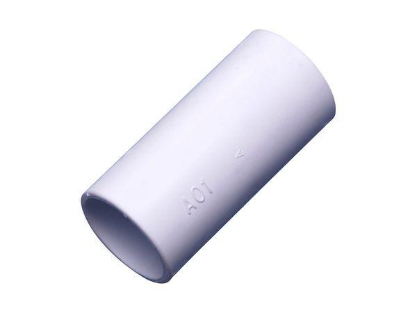 Wavin 1E104 21.5mm double socket ABS White