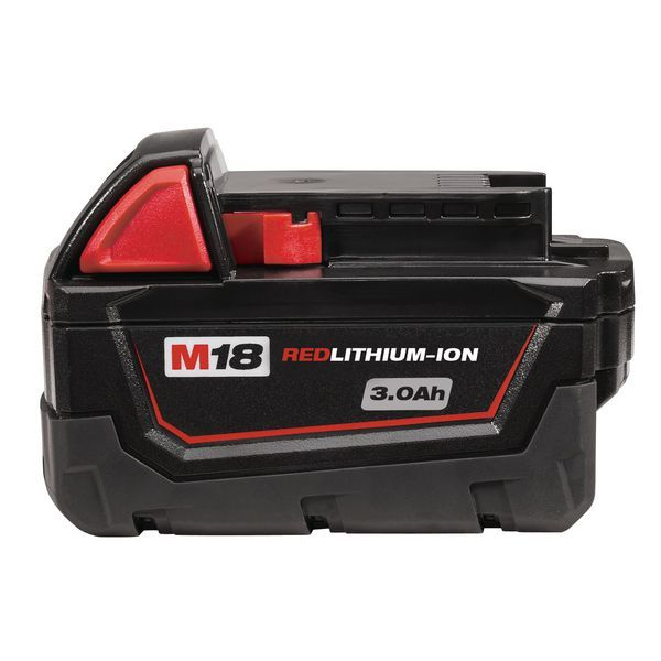 MILWAUKEE 18V RED LITHIUM ION BATTERY 3A