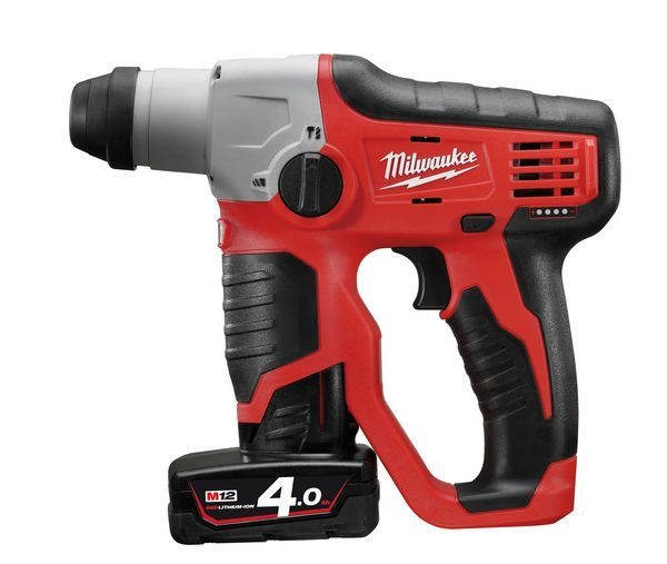Milwauk M12 COMPACT SDS 2 MODE HAMMER  2 X 4A