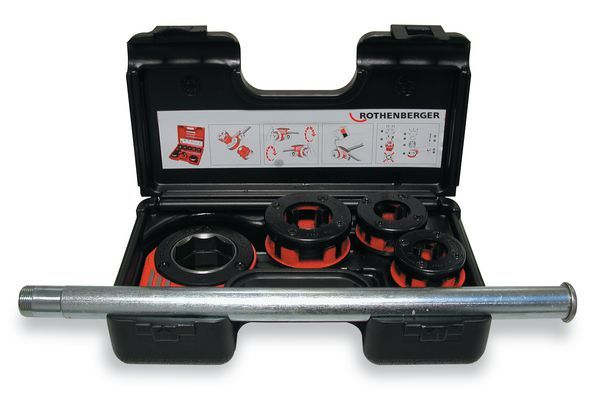 ROTH RATCHET THREADER SET 1/2-1 BSPT
