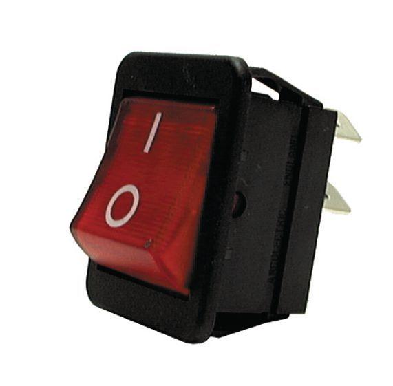 Lincat NE14 neon rocker switch - red