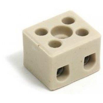 Oxford CERAMIC TERMINAL BLOCK 2 WAY 15AMP