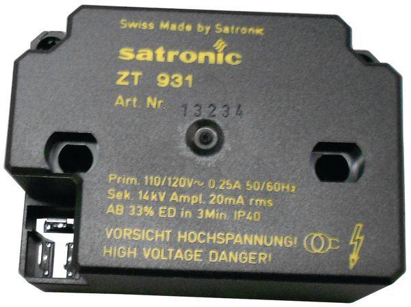 Honeywell Satronic ZT931 ignition transformer 110v 4mm
